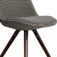 I-DSW Chair Walnut Pyramid Legs - Houndstooth Fabric